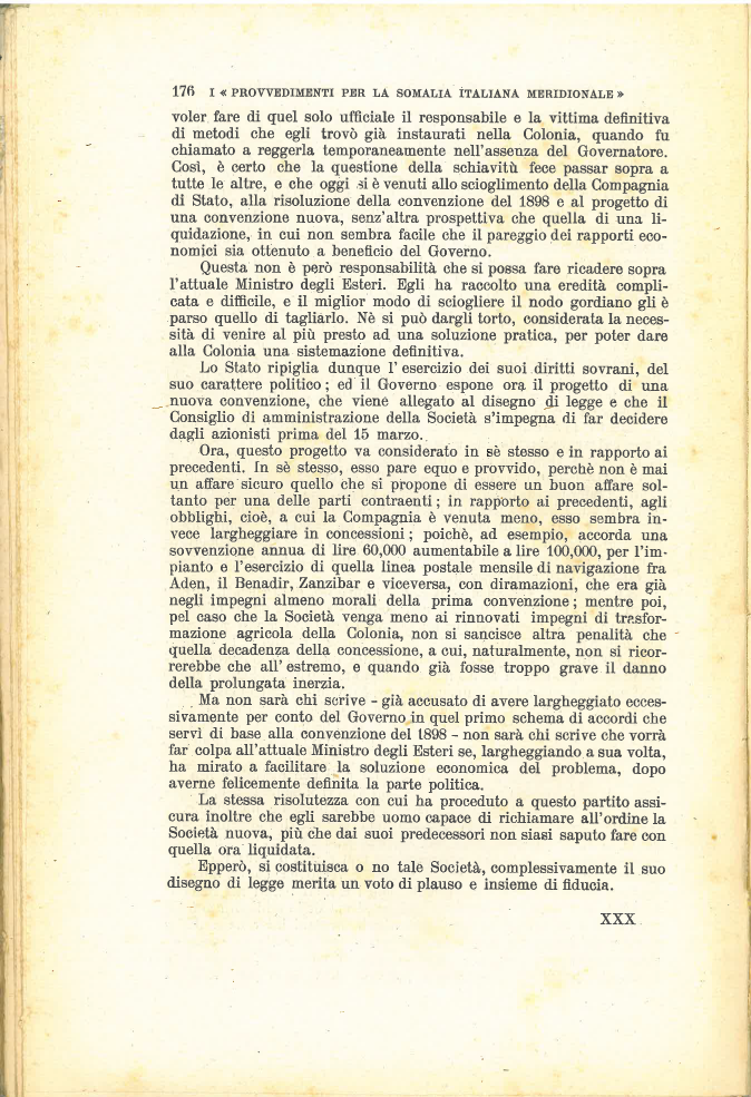 I provvedimenti per la Somalia Italiana Meridionale #5