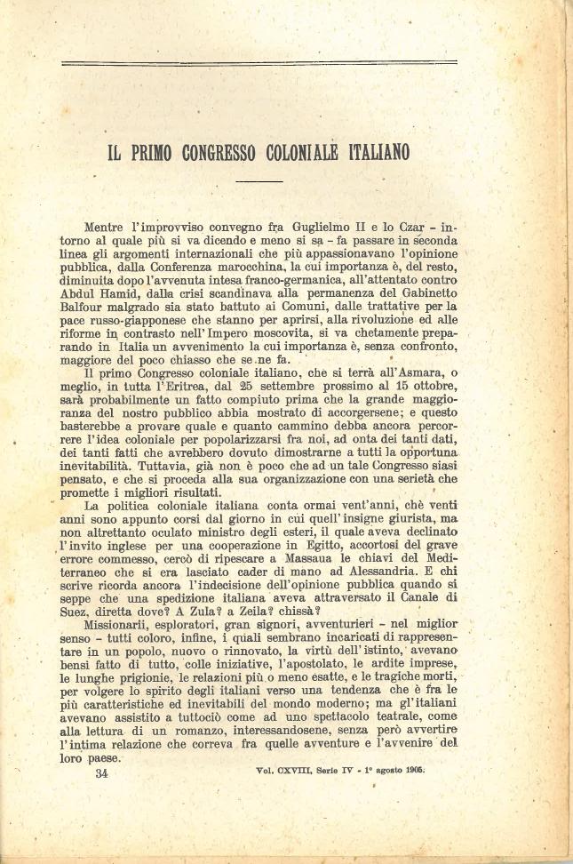 Il primo congresso coloniale italiano #1
