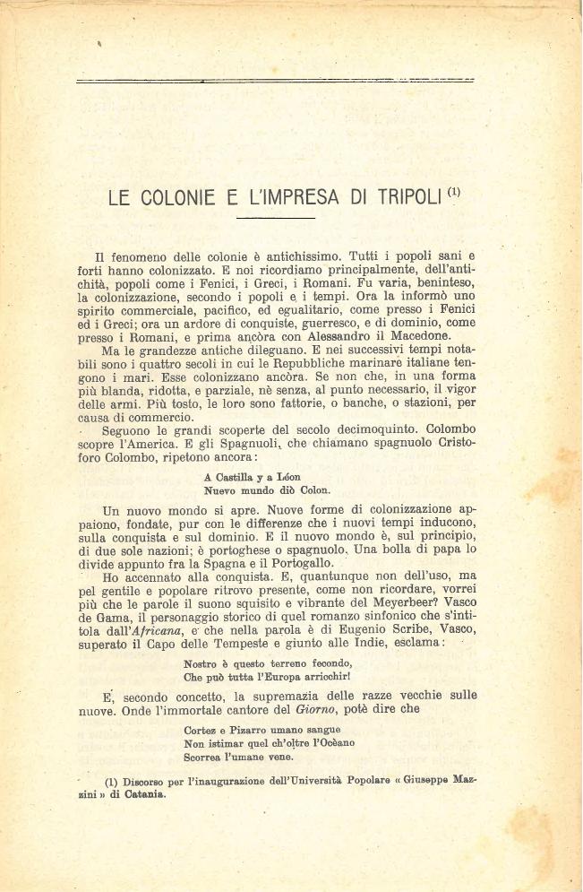 Le colonie e l'impresa di Tripoli #1
