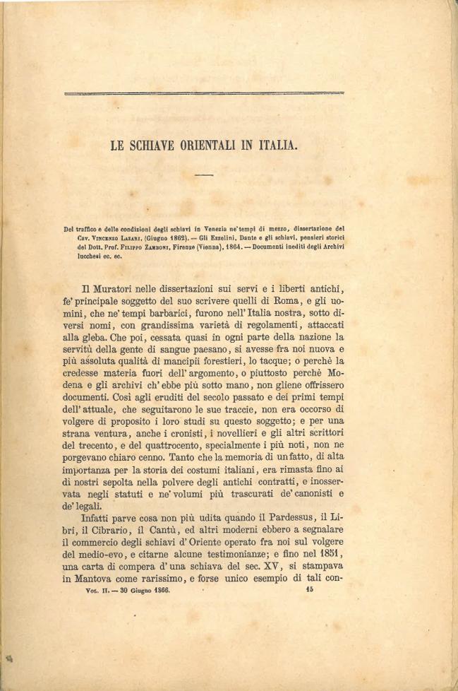 Le schiave orientali in Italia #1