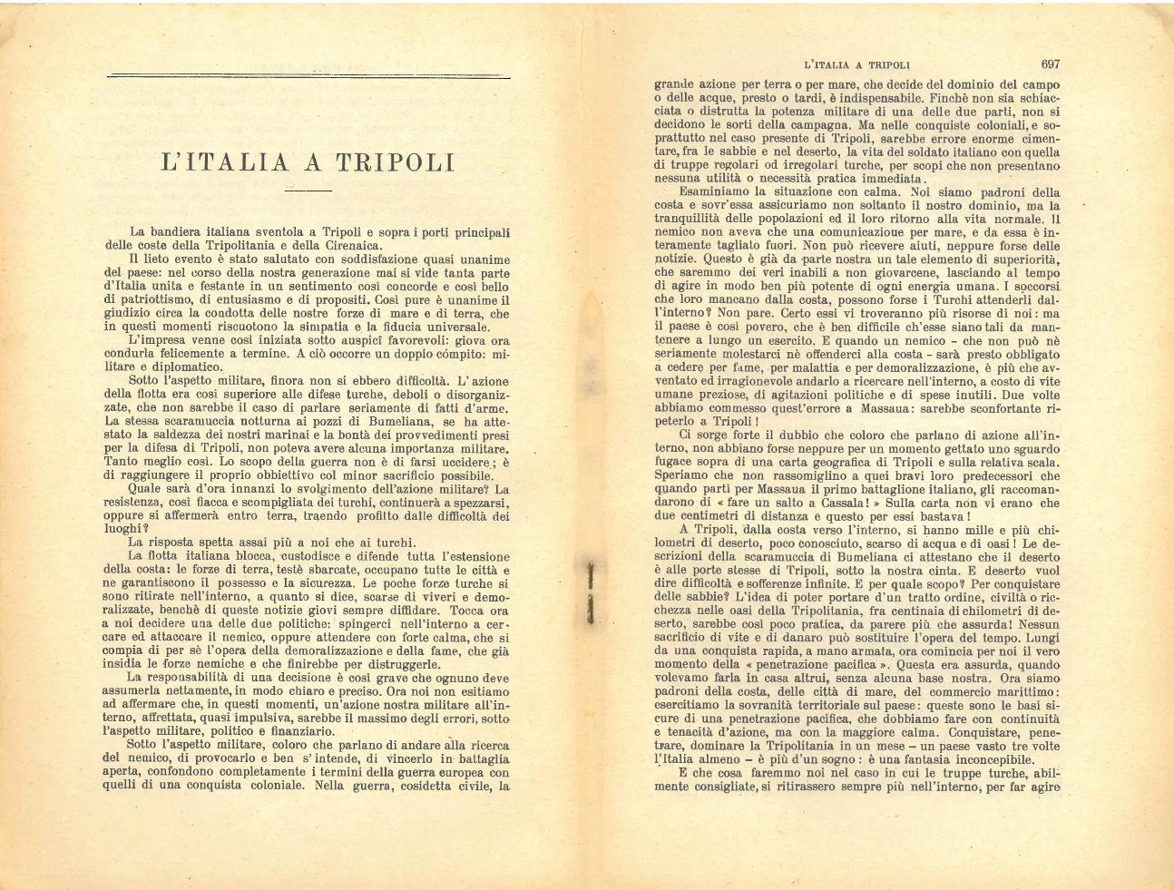 L'italia a Tripoli #1