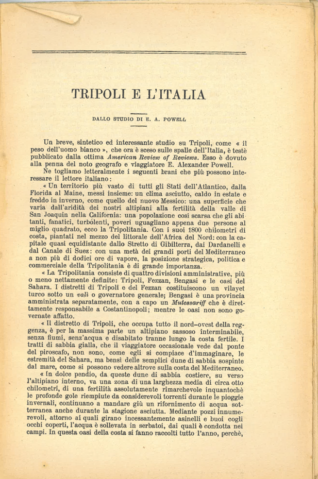 Tripoli e l'Italia #1